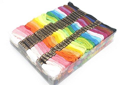 100madejas de hilo para bordar colorido hilo de punto de cruz hilos máquina Kit de accesorios ático ®