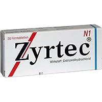 ZYRTEC 20St Filmtabletten PZN:4394326 preisvergleich bei billige-tabletten.eu