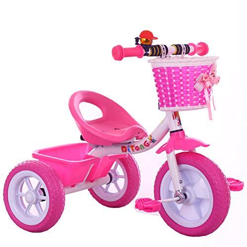 Bici per bambini Guo Shop- Trolley per Bambini Unisex Triciclo per Bambini Bicicletta 1-3-5 Anni Carrozzina smontabile
