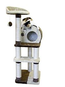 Kerbl Cat Planet-X Scratch Tree, 127 cm, Brown/ Beige