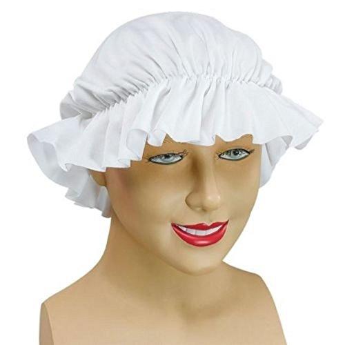 Wench Kostüm Zubehör - Mittelalter Wench Damen weiß mob Cap