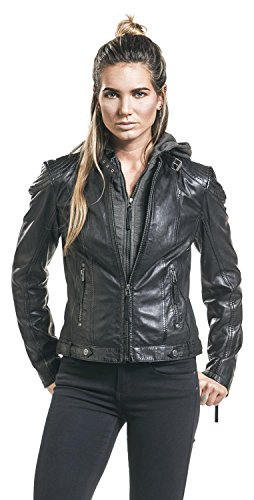 Gipsy Damen Lederjacke Bikerjacke Übergangsjacke Schwarz
