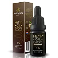 Hemp Oil Drops 5%, Organic Full Spectrum Co2 Extract, Great for Pain, Anxiety & Stress Relief [ 10ml ] Best from The Netherlands (5% (500mg)) 22