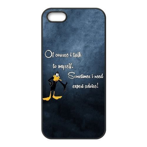 durable-rubber-cases-iphone-5-5s-cell-phone-case-black-xzqil-daffy-duck-i-talk-to-myself-protection-