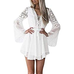 Vestidos para Mujer,Elegante Fiesta Vestidos Encaje Vestido de Cóctel Vestido de Noche Vestido Moda Slim Fit Vestidos Corta Vestidos vpass