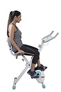 Cardio Max JSB HF78 Magnetic Upright Fitness X-Bike with Back Support Exercise Cycle