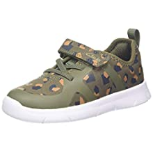 Clarks Ath Flux T, Boys' Low-Top Sneakers, Green (Olive Camo Olive Camo), 6.5 Child UK (23 EU)
