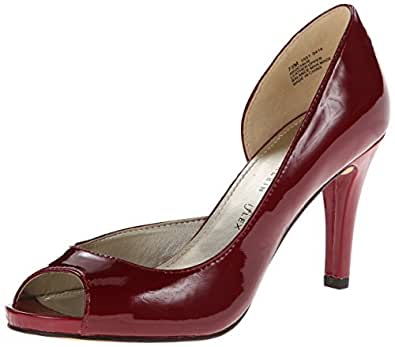 Anne Klein Octavie Women US 6.5 Red Peep Toe Heels UK 4