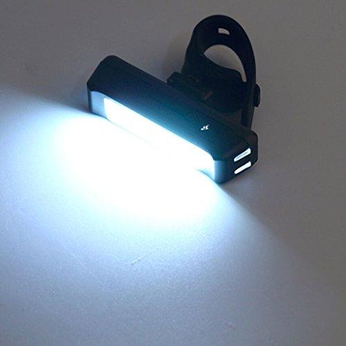 LT&NT Fahrrad Licht Vorne Hinten USB Lade Fahrrad Scheinwerfer Rücklicht Berg Rennrad Lichter Wasserdichte Outdoor Reitausrüstung Zubehör (weißes Licht)