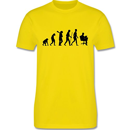 Evolution - Karriere - Herren Premium T-Shirt Lemon Gelb