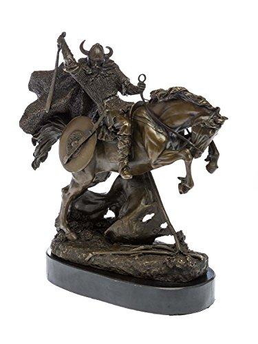 Guerreros escultura de bronce de bronce en la figura a caballo escultura