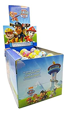 Paw Patrol - Patrulla Canina - Huevos de chocolate con sorpresa - 24 unidades por MonDesir snc