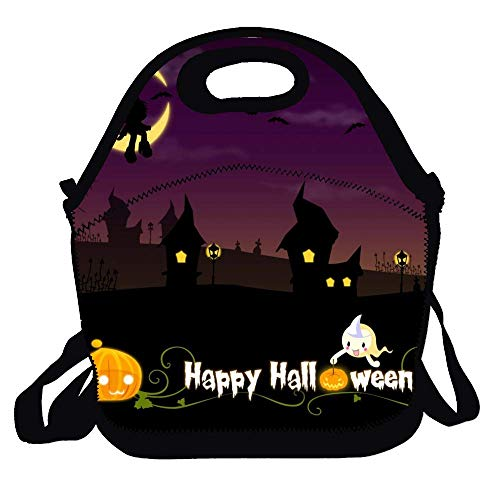 Lunch Bag Lunch Tote Bag Happy Halloween Prints Travel School Picnic Lunch Box for Men Women Kids