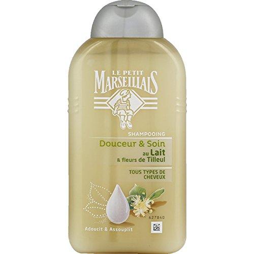 Le Petit Marseillais - Shampooing tous types de cheveux lait tilleul - Le flacon de 250ml - (pour la quantité plus que 1 nous vous remboursons le port supplémentaire)