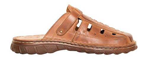 40fc04e3d Lukpol Natural Buffalo Leather Mens Orthopedic Sandals Shoes Model-870 Brown