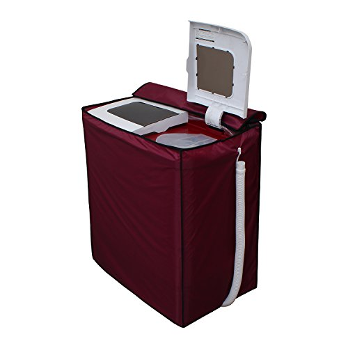 Glassiano Maroon Waterproof & Dustproof Washing Machine Cover for semi Automatic Videocon Zaara Platinum 7.5 Kg Washing Machine