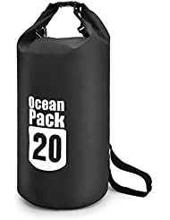 20L impermeable bolsa seca flotante Gear bolsas con Correa para el hombro ajustable para buceo senderismo Camping Canotaje Kayak Pesca Rafting natación