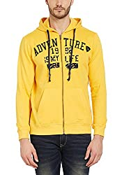 Spykar Mens Cotton Yellow Slim Fit Sweatshirts (Medium)