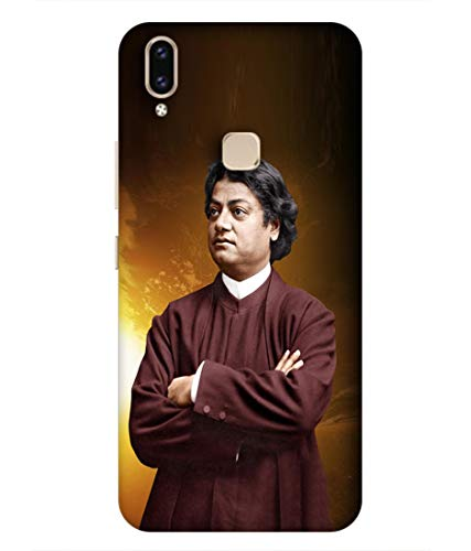 SAMRNG Amazing Designer Back Case Cover for Vivo V9 with The Unique Design of vivekanand backcoversWith The Beautiful White Colour