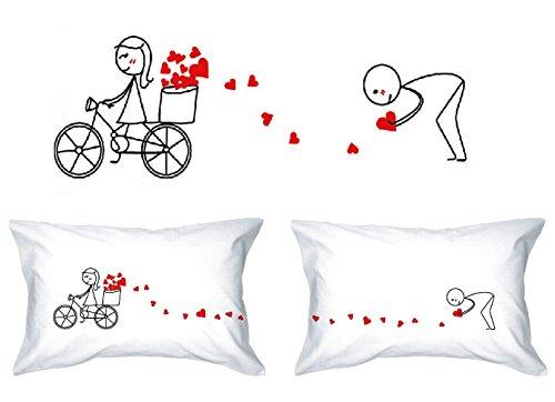Human touch, pista di amore - lui & lei - federe - il romantico regalo di anniversario eccentrico, regalo di nozze, regalo di san valentino, o semplicemente per sollevare un sorriso.