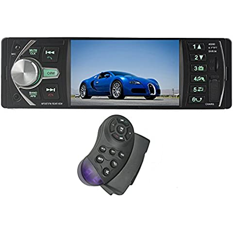 PolarLander 12V 4.1HD Autoradio Stereo MP5 Player FM / 5V caricatore / MP3 / MP4 / Audio / Video / USB / TF / AUX / Supporto telecamera posteriore Ed Automobile DVR 1 DIN