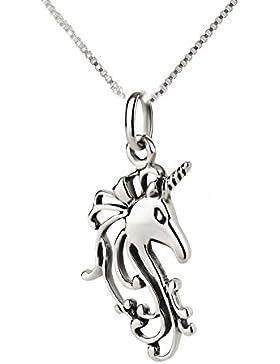 SL-Silver Set aus Kette und Anhänger mystisches Einhorn 925 Silber in Geschenkverpackung