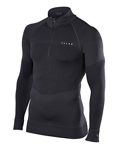 FALKE Herren Ski Pullover, Black, L