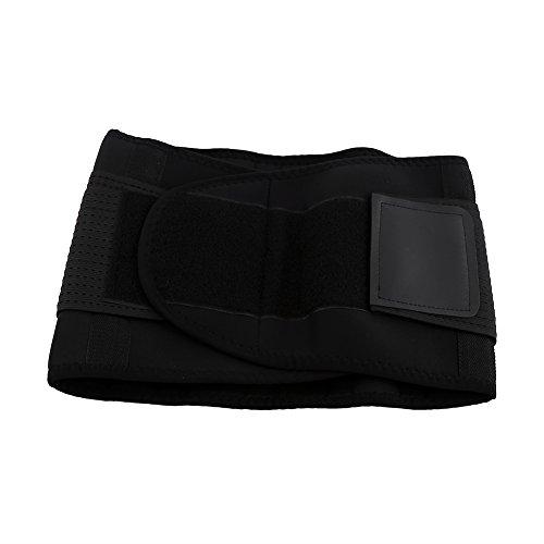 Ceinture de sécurité respirante Ceinture de soutien lombaire réglable Ceinture de compression élastique réglable Sweat Exerciseur de remise en forme Fitness Fitness Belt pour les hommes et les femmes ( Size : Black-L )