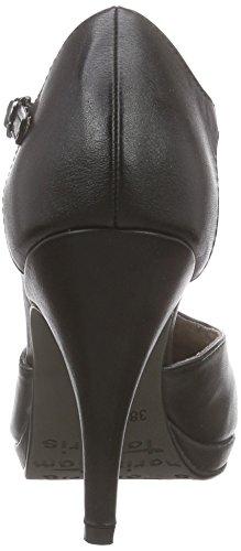 Tamaris 24428, Chaussures à talons avec bride style salomés femme Noir - Noir mat (015)