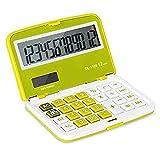 Calcolatrice flip pieghevole Calculator Mini Student grande schermo 12 Digit calcolatrice finanziaria portatile calcolatrice da tavolo calcolatrice Ufficio Vineyard (Color : Blue)