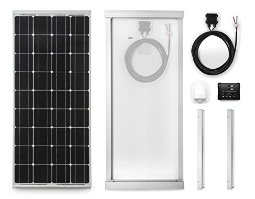 Monocrystalline Solar Panel 100W for Caravans Complete Kit with Installation Accessories and 10A Charge Controller