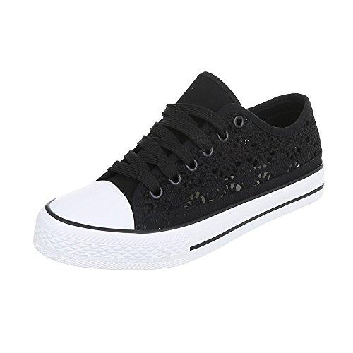 Ital-Design, Sneaker donna Schwarz 6718-Y