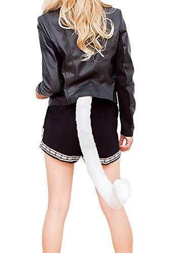 Martinad Halloween Kostüme Damen Cosplay Einstellbar Katze Outfit Schwanz Elegante Stilvolle Unikat Fashion Hübsch Schweifanhänger Faschingskostüme (Color : Weiß, Size : One Size)