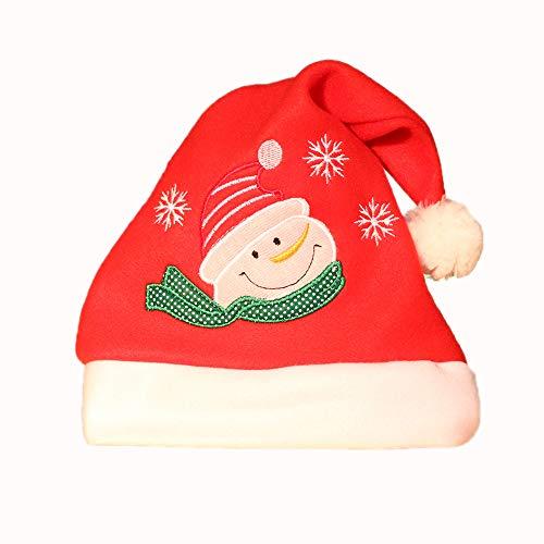 Weihnachtsmütze Santa Schneemann Hirsch Erwachsene Kinder Urlaub Dekoration Hut Bar Dressing liefert Stickerei Handwerk Hut Kinder niedlichen Hut ()