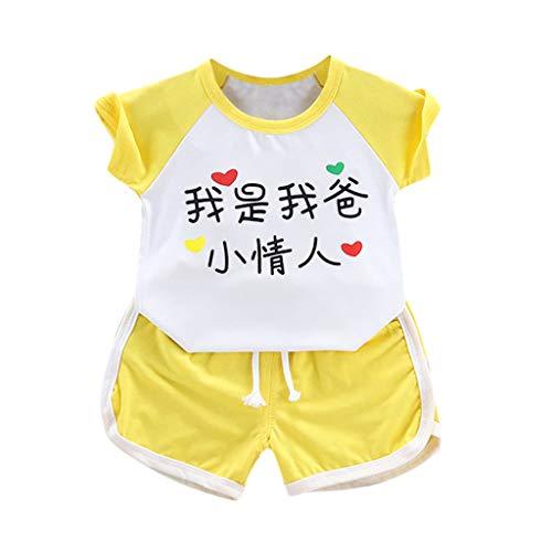 Kleidung, Kind Mädchen T-Shirt (Chinesische Bedeutung: Ich Bin der kleine Liebhaber meines Vaters) + Shorts 6 Monate - 3 Jahre ()