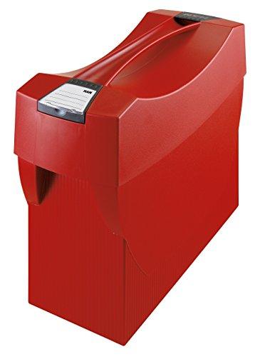 HAN 1901-17, Hängemappenbox SWING-PLUS mit Deckel, Das mobile Büro. Innovatives Design für 20 Hängemappen, integrierter Köcher, rot