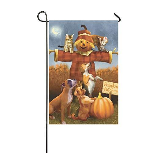 Asendan design a tema halloween bandiera da giardino-zucche di halloween-decorativo per interni ed esterni-ideale per decorazioni per feste da 30 x 45 cm