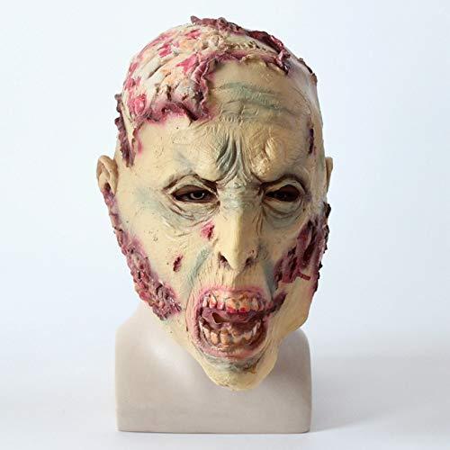 baoqsure Beängstigend Halloween Kostüm Party Dress Up Realistische Latex Horror Böse Zombie Kopf Maske