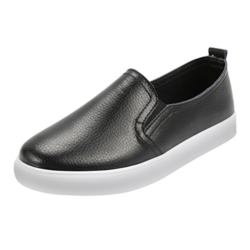 Women Leather Loafers, Wedge Moc...