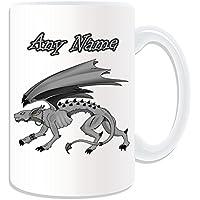 Regalo personalizzato–grande Hellhound tazza, motivo: Fairy Tale, bianco)–qualsiasi nome/messaggio personalizzato–Demon