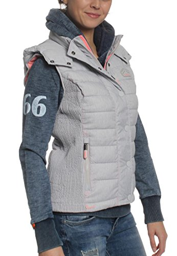 Doudoune Superdry Fuji Slim Double Zip Light Grey Gris