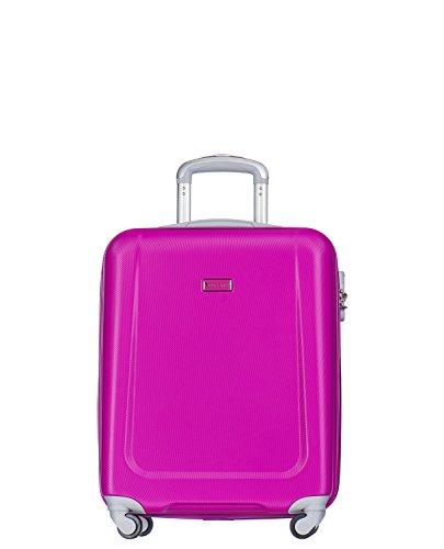 Koffer Reisekoffer Hartschalen Trolly Puccini Ibiza • 4 Größen 7 Farben (Pink (3A), Kabinenkoffer)