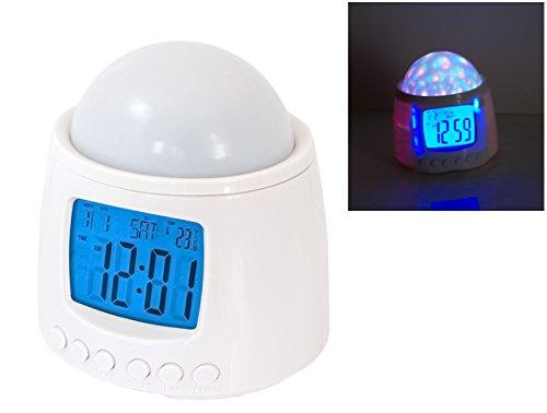 Preisvergleich Produktbild PREMIUM LED Sternenhimmelprojektor - Digitaler Wecker mit 10 Melodien