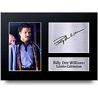 HWC Trading Billy Dee Williams Geschenke Unterzeichneten A4 Gedrucktes Autogramm Star Wars Lando Calrissian Druck-Foto-Bilderanzeige