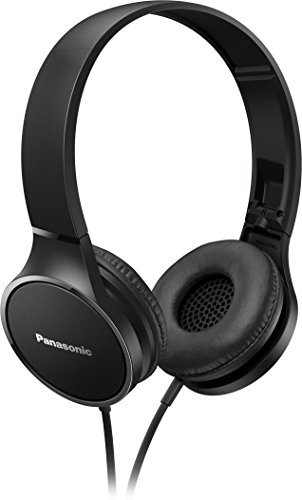 Panasonic RP-HF300 Portable Powerful Sound Stereo Headphones - Black