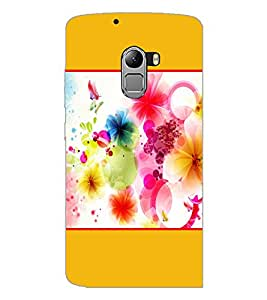 PrintDhaba Colored Flowers D-1429 Back Case Cover for LENOVO K4 NOTE A7010 (Multi-Coloured)
