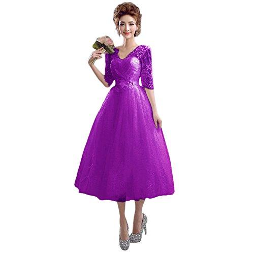 Vimans -  Vestito  - linea ad a - Donna Purple2