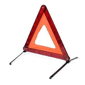 Rouge et Noir sur route de réflexion Triangle D'AVERTISSEMENT DE BLOC