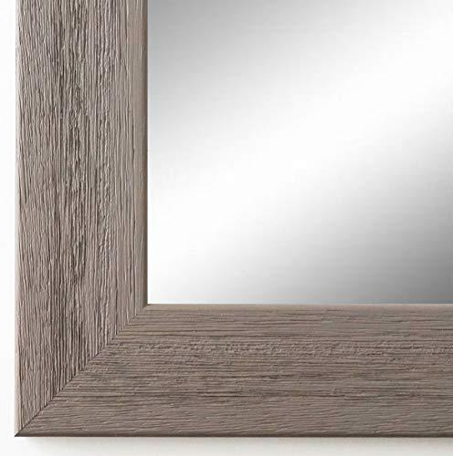 Online Galerie Bingold Wandspiegel Spiegel Badspiegel - Florenz 4,0 - Grau - 50 x 70 - Außenmaß inkl. Massivholz-Rahmen - viele Größen verfügbar - Modern, Barock, Antik, Vintage