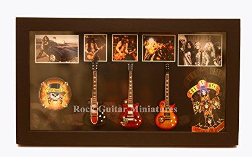 Unbekannt RGM8853 Slash Guns N Roses Miniature Guitar Collection in Shadowbox Frame